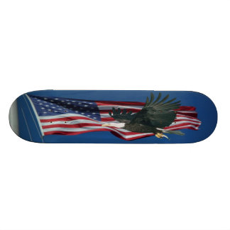 American Flag & Eagle SKateboard