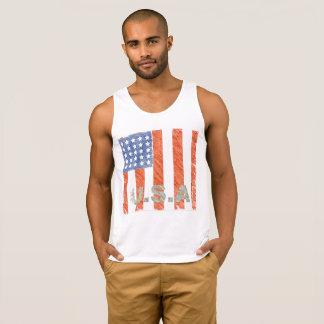 AMERICAN FLAG Faded Singlet