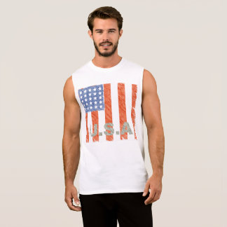 AMERICAN FLAG Faded Sleeveless Shirt