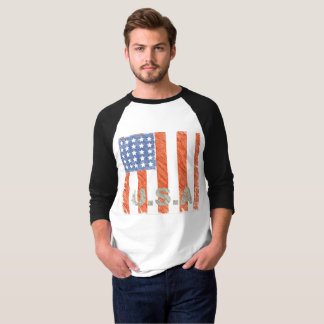 AMERICAN FLAG Faded T-Shirt