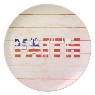 American Flag Faith Dinner Plate