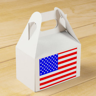 American Flag Favour Box