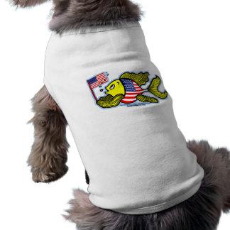 American Flag Fish Doggie Tshirt