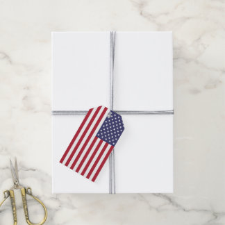 American Flag Fitted Gift Tags