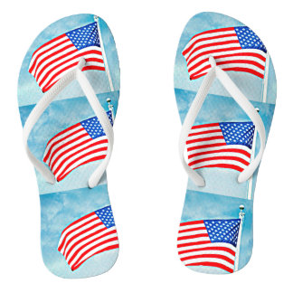 American Flag Flip Flop Shoes Thongs