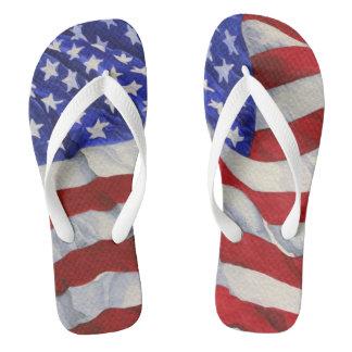 American Flag - Flip Flops Thongs