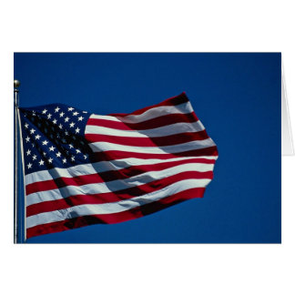 American flag flying cards