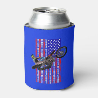 American flag freestyle motocross can cooler