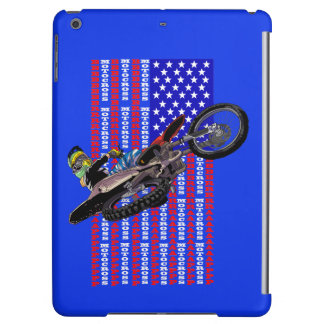 American flag freestyle motocross iPad air case