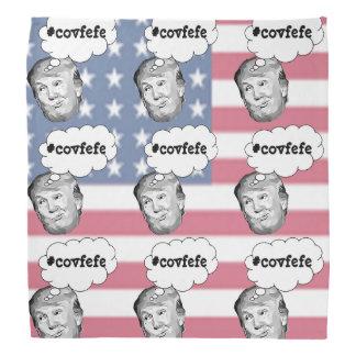 American Flag Funny Donald Trump #covfefe Bandanna