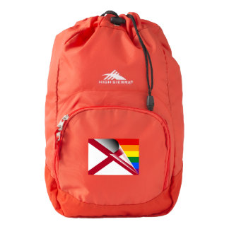 American Flag Gay Pride Rainbow Flag Backpack