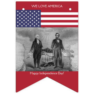 American Flag George Washington Abraham Lincoln US