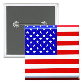 American Flag Glossy Button Pin