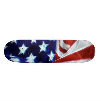 American Flag Glow Stars Skateboard