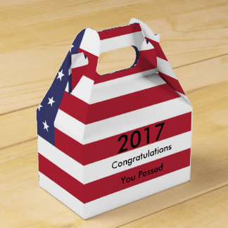 American Flag Graduation Wedding Favour Box