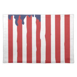 American Flag Graffiti Usa United Placemat