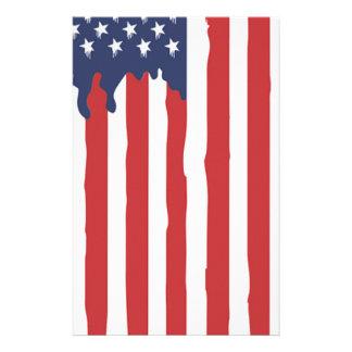 American Flag Graffiti Usa United Stationery