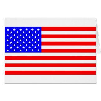 AMERICAN FLAG GREETING CARD