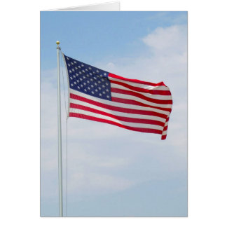 American Flag Greeting or Notecard  #1 Note Card