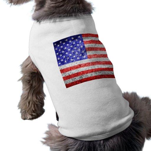 American Flag Grunge Pet T-shirt