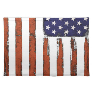 American Flag Grunge Edition Placemat