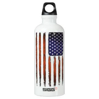 American Flag Grunge Edition Water Bottle