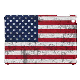 American Flag Grungy Distressed Cover For The iPad Mini