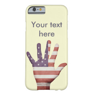 American Flag Hand Barely There iPhone 6 Case