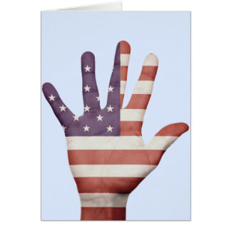American Flag Hand Greeting Card