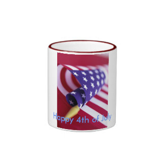 American Flag Happy 4th of July Mugs