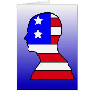 American Flag Head Greeting Card