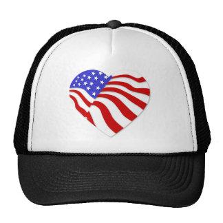 American Flag Heart America USA Valentine Popular Hat