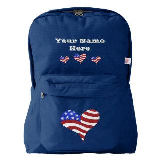 American Flag Heart - Backpack