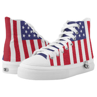 American flag High Top Shoes Printed Shoes