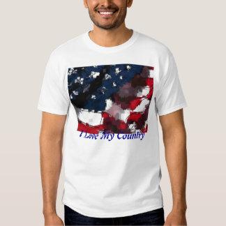 American Flag, I Love My Country Tee Shirt