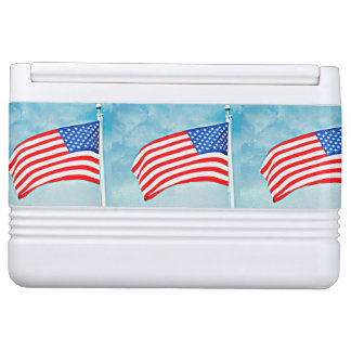 American Flag Igloo Can Cooler