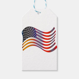 American Flag Illustration Gift Tags