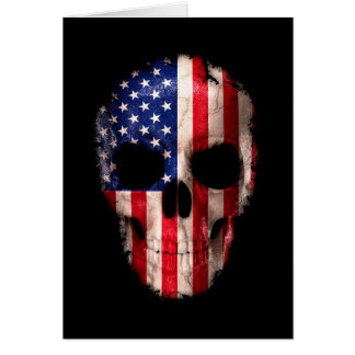American Flag Imprinted Skull Card