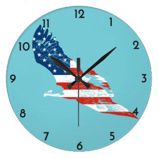 American Flag in Eagle Clocks