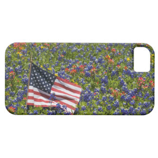 American Flag in field of Blue Bonnets, 2 Barely There iPhone 5 Case