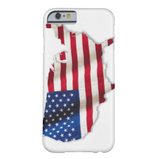 American flag in shape of United States Barely There iPhone 6 Case
