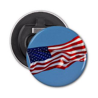 American Flag in the Wind Bottle Opener