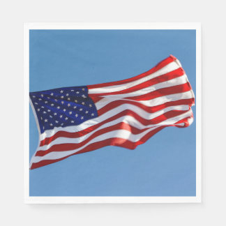American Flag in the Wind Disposable Napkin