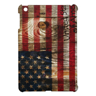 American Flag in wooden bord Cover For The iPad Mini