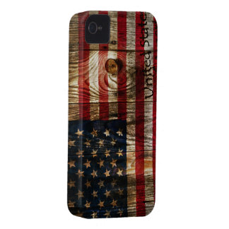 American Flag in wooden bord iPhone 4 Covers
