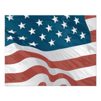 American Flag Custom Invite