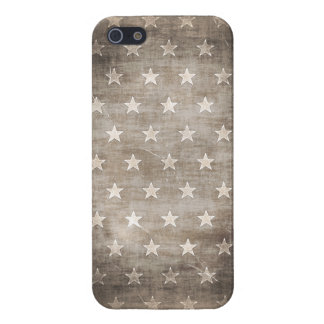American flag iPhone 5 case with Grunge Stars