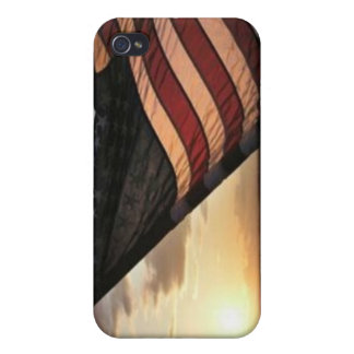 American Flag Cover For iPhone 4