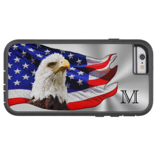 American Flag iPhone Cases Monogrammed