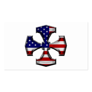 American Flag Iron Cross Business Cards